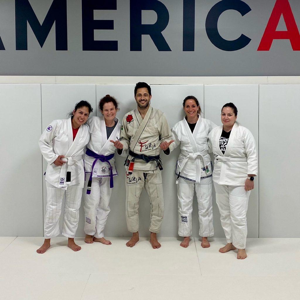 Female students after class at Americana Jiu Jitsu